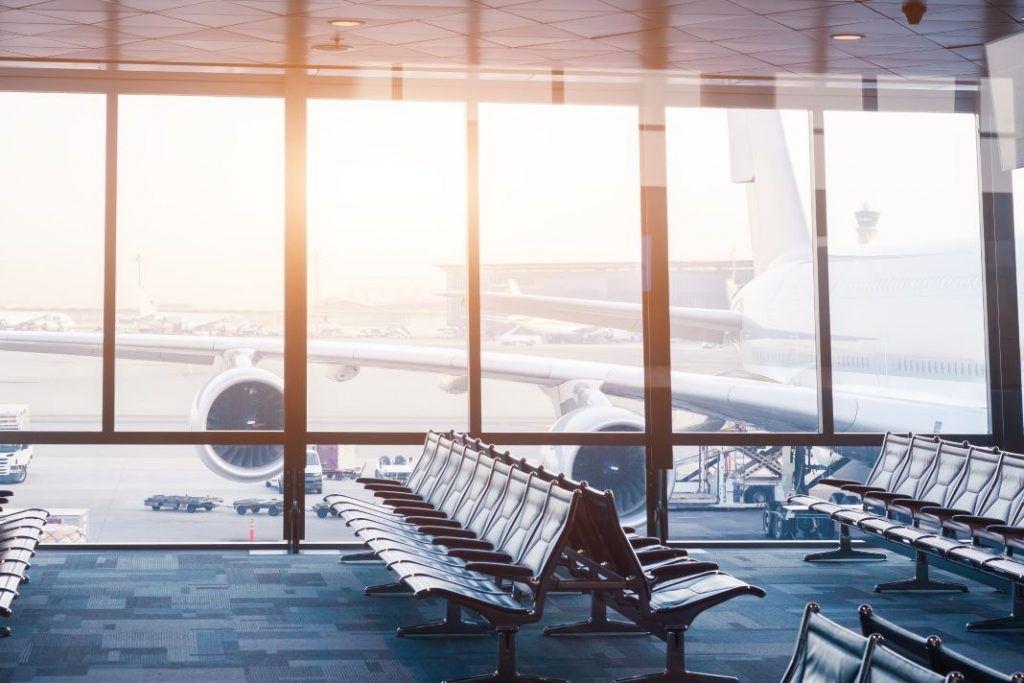 Fahrrad im Flugzeug Terminal