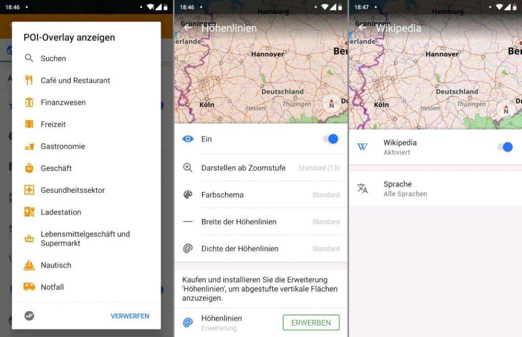 OsmAnd App Anleitung Karte konfigurieren