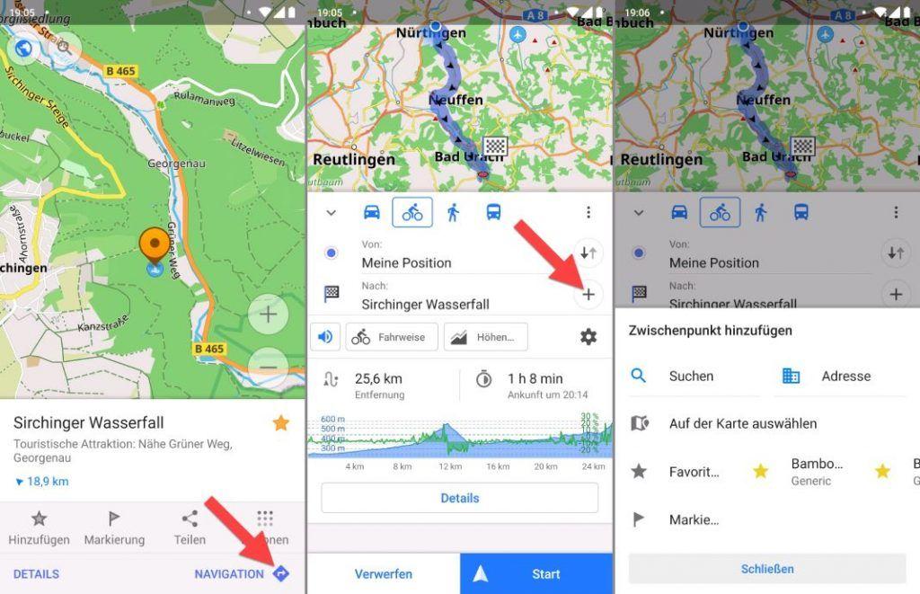 OsmAnd App Anleitung Tourplanung