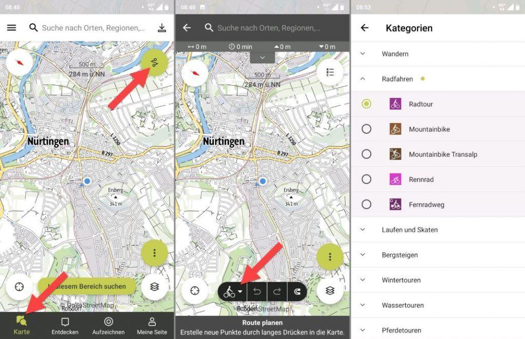 Outdooractive Tourenplaner Android App