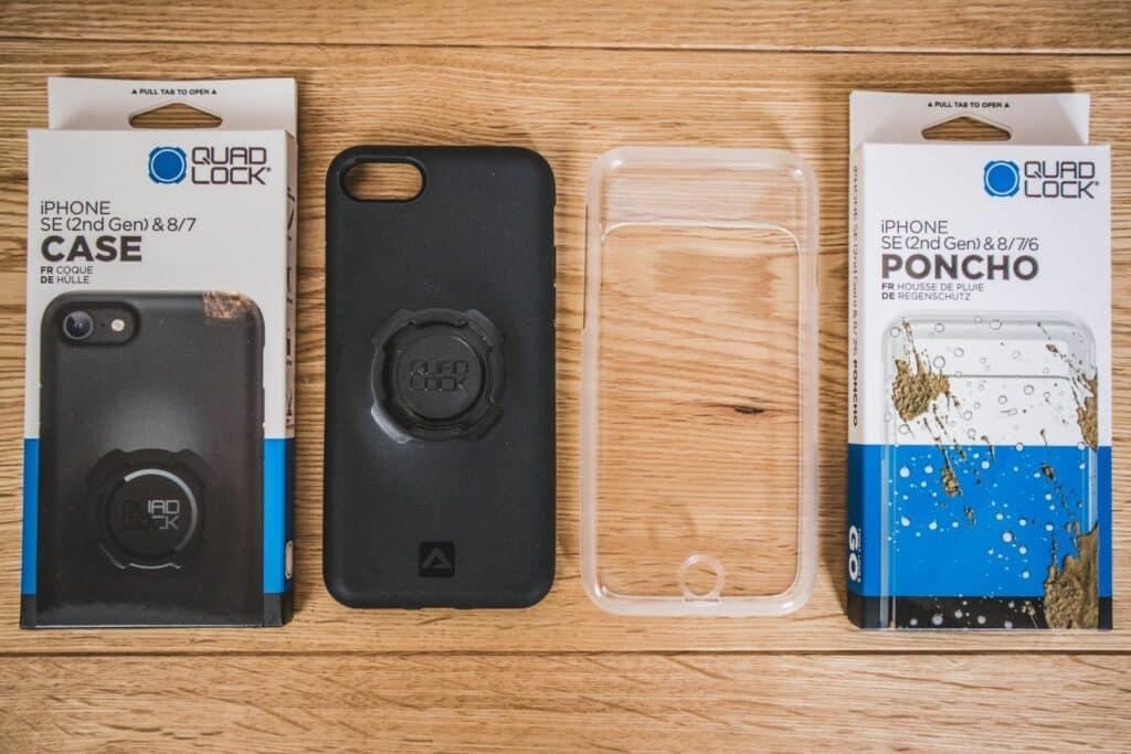 QuadLock Handyhalter Case und Regen Poncho