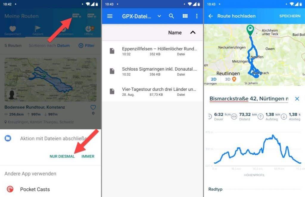 Bikemap GPX Import in App Erfahrungen