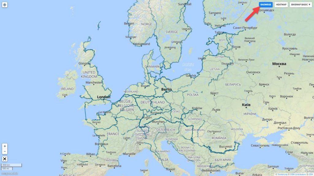 Bikemap Routenplaner mit Fahrradwegen