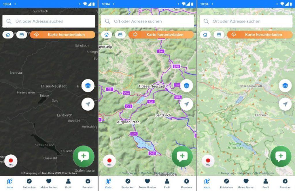 Bikemap Test Erfahrungen Karten Einstellungen Nacht OpenCycleMap OSM
