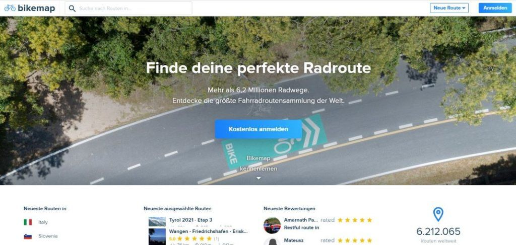Bikemap Test Erfahrungen mit Fahrradtouren und Routenplaner App