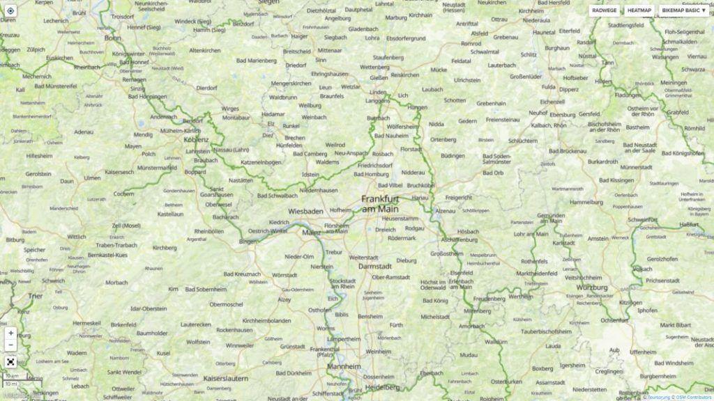 Erfahrungen Bikemap Routenplaner Heatmap aus