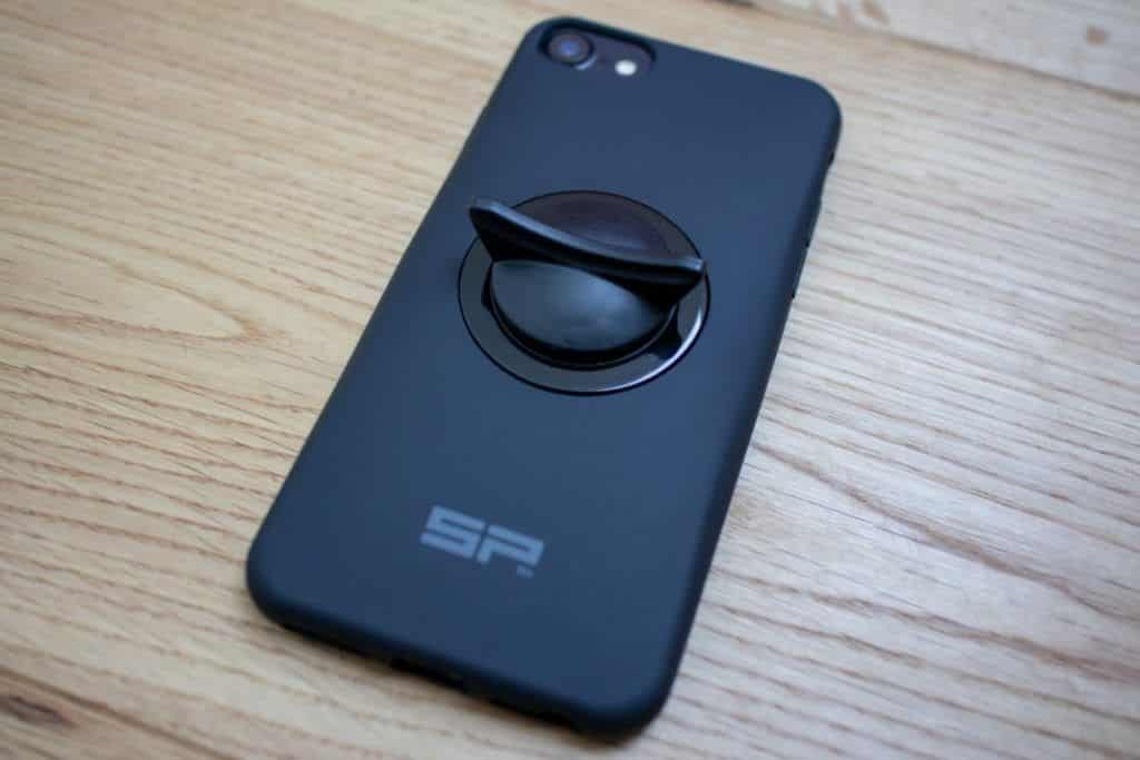 SP Connect Fahrradhalterung und Smartphone Aufsteller installiert