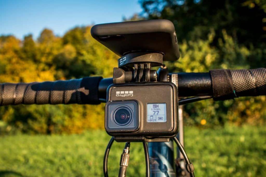 SP Connect GoPro Adapter am Roadbike Bundle Handlebar Mount