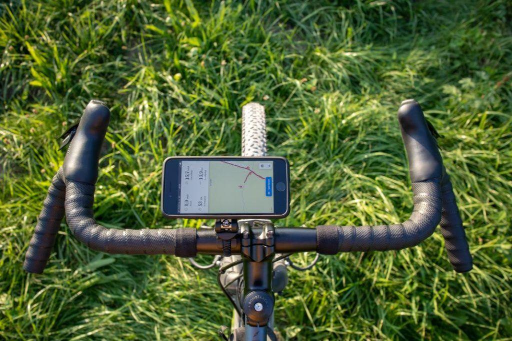 SP Connect Mobile Phone Holder Bike Bundle Handlebar Landscape Format