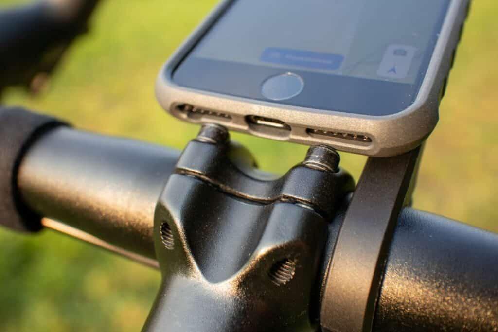 Topeak Ridecase Fahrrad Case PanoComputer Handyhalter für Rennrad nah