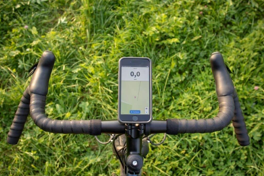Topeak Ridecase Fahrrad Case PanoComputer Handyhalter für Rennrad von oben