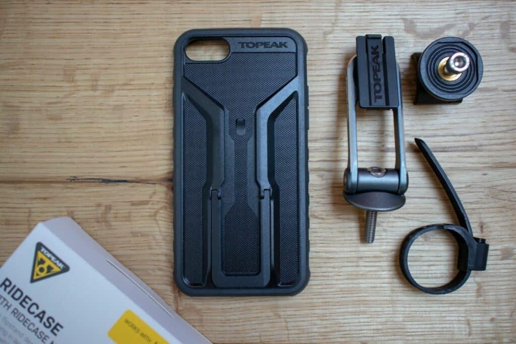 Topeak Ridecase Handyhalterung Fahrrad Case Lieferumfang