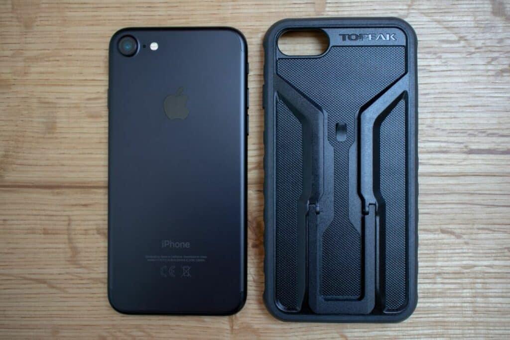 Topeak Ridecase Handyhalterung und iPhone