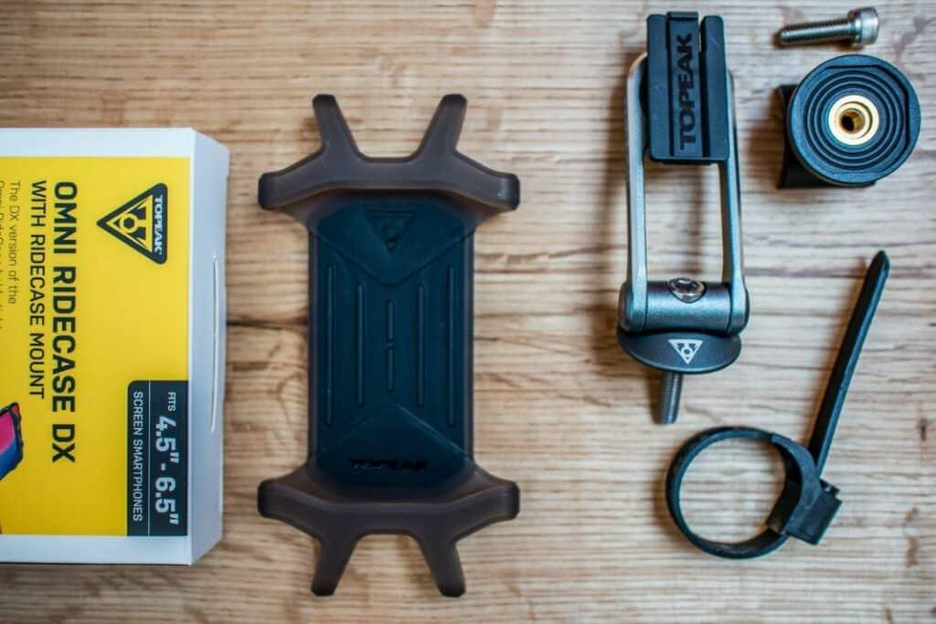 Topeak Ridecase Omni Lieferumfang der Handyhalterung