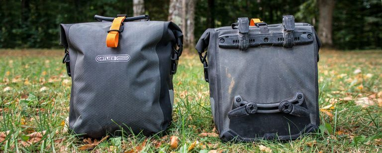 Ortlieb Gravel Pack Test Experiences small lowrider bike bags for front and rear Title