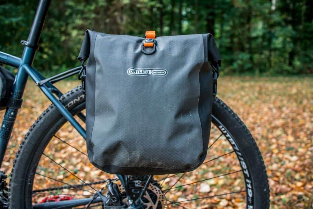 Ortlieb Gravel Pack Test Lowrider bike bags front and rear