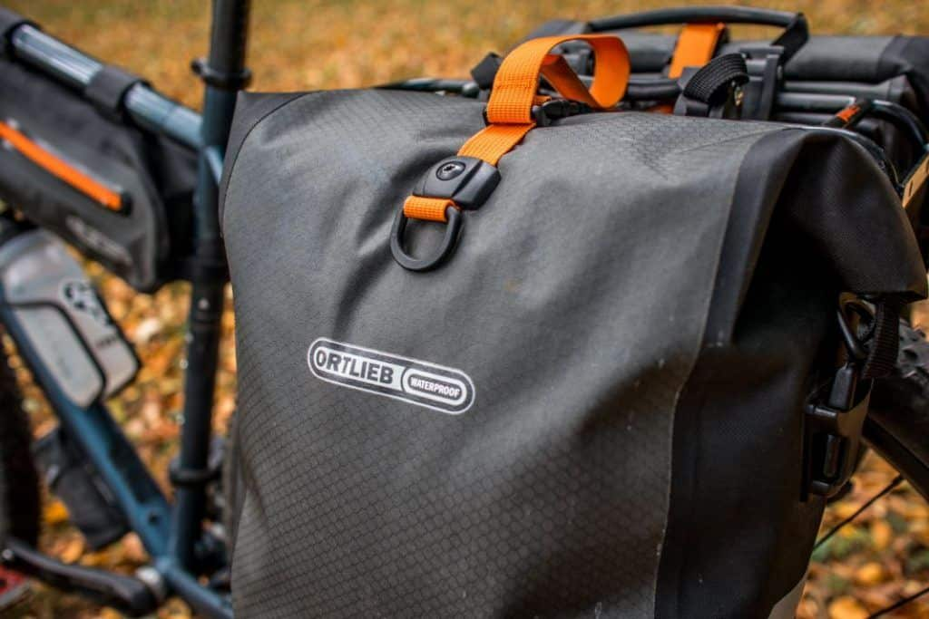 Ortlieb Gravel Pack Test Lowrider Bike Bags Front and Rear Details