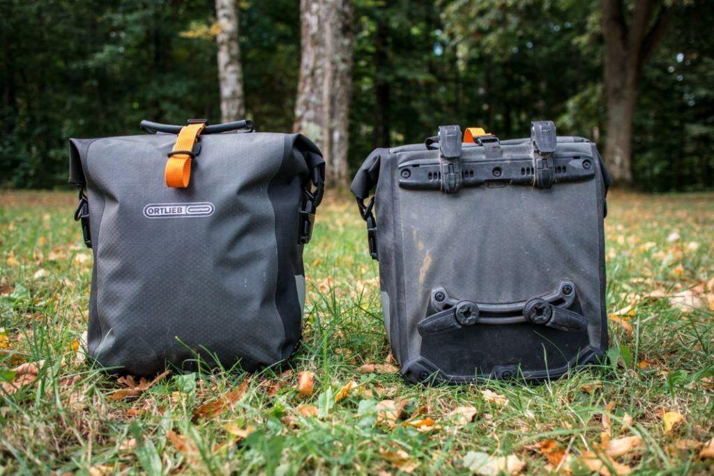 Ortlieb Gravel Pack Test kleine Fahrradtaschen Vorderrad und für hinten Set