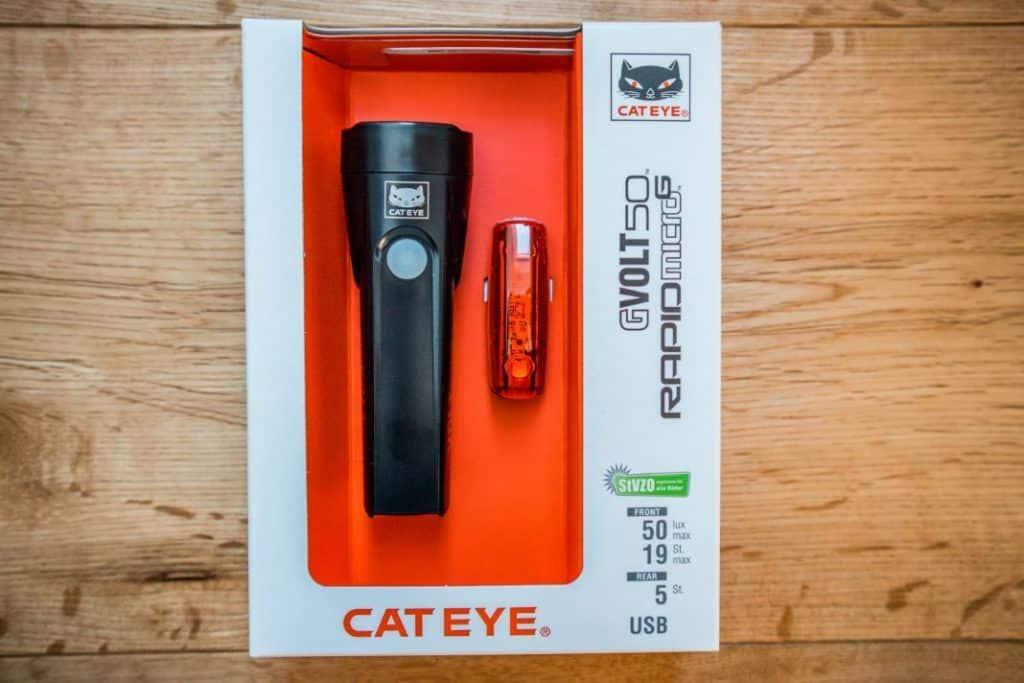 Cateye GVolt 50 Set Verpackung