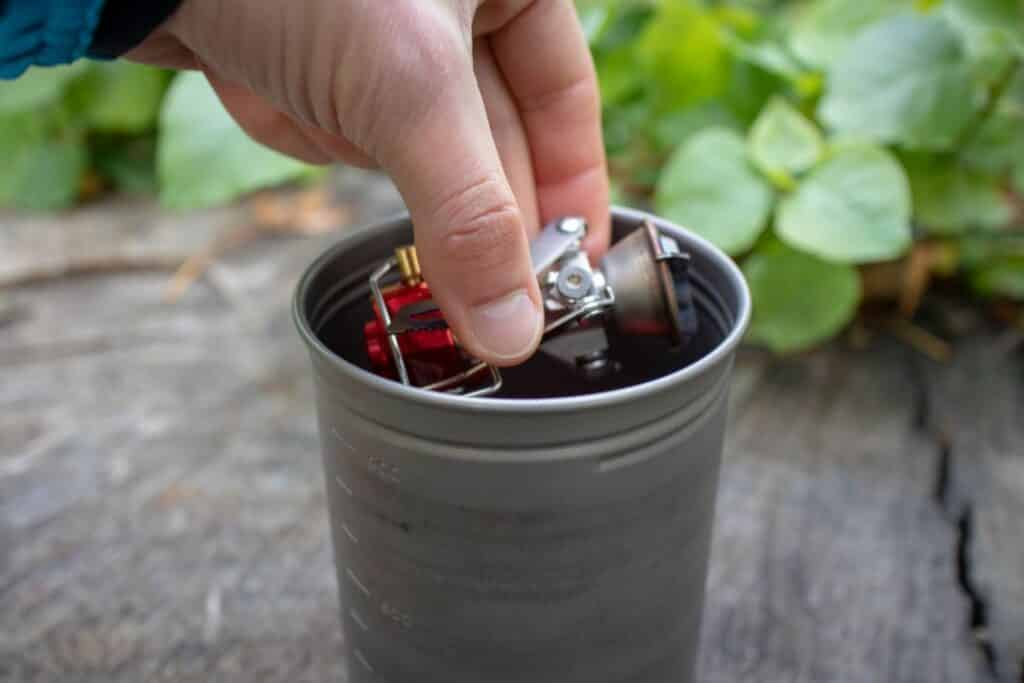 MSR Pocket Rocket 2 Test Mini Outdoor Gaskocher in Topf