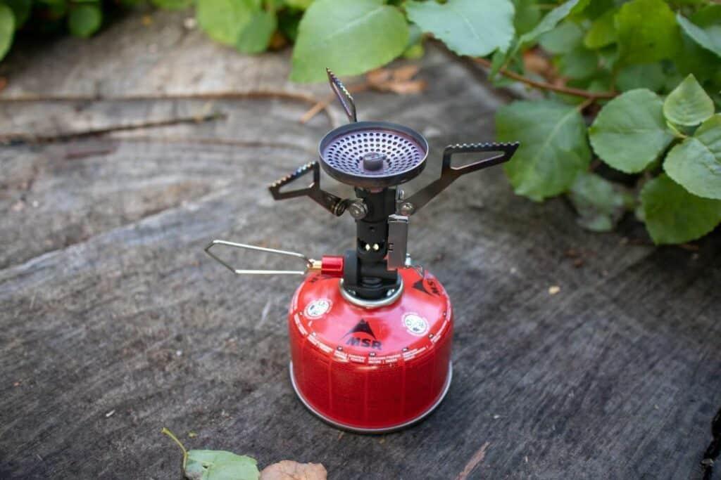 MSR Pocket Rocket DLX Trekking Kocher auf Gaskartusche