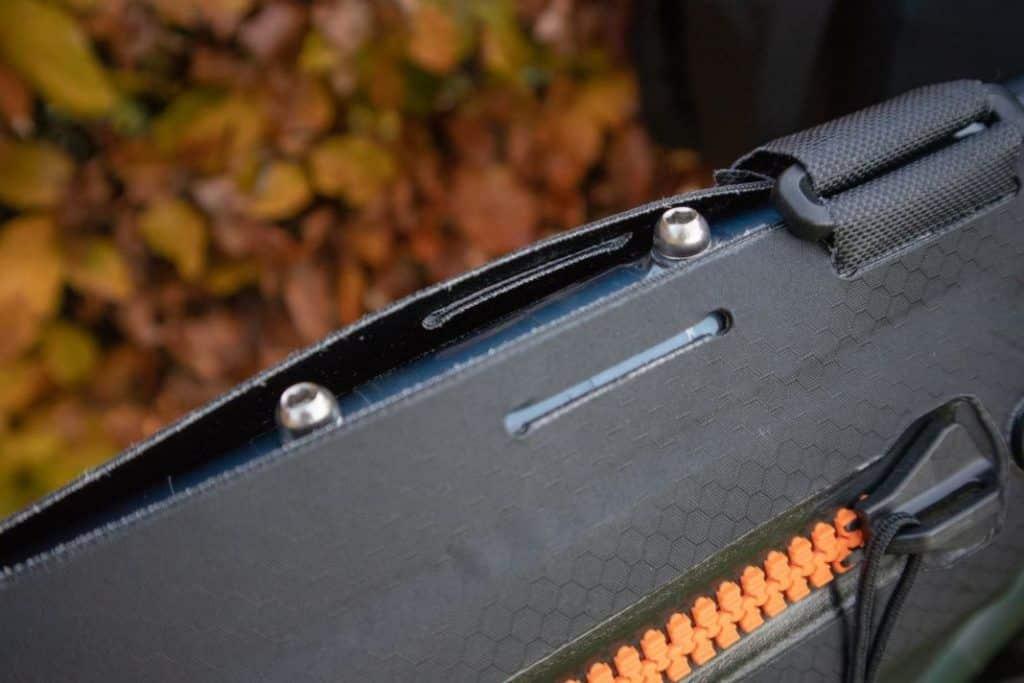 Ortlieb Frame Pack Befestigung für Oberrohrtasche zugänglich