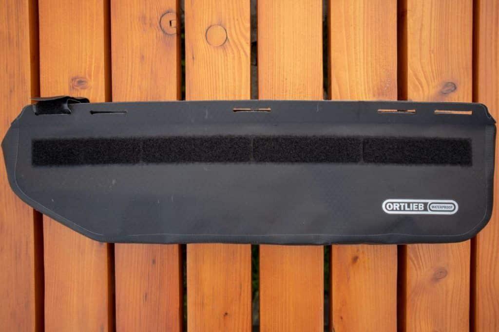 Ortlieb Frame Pack Test Bikepacking frame bag backside
