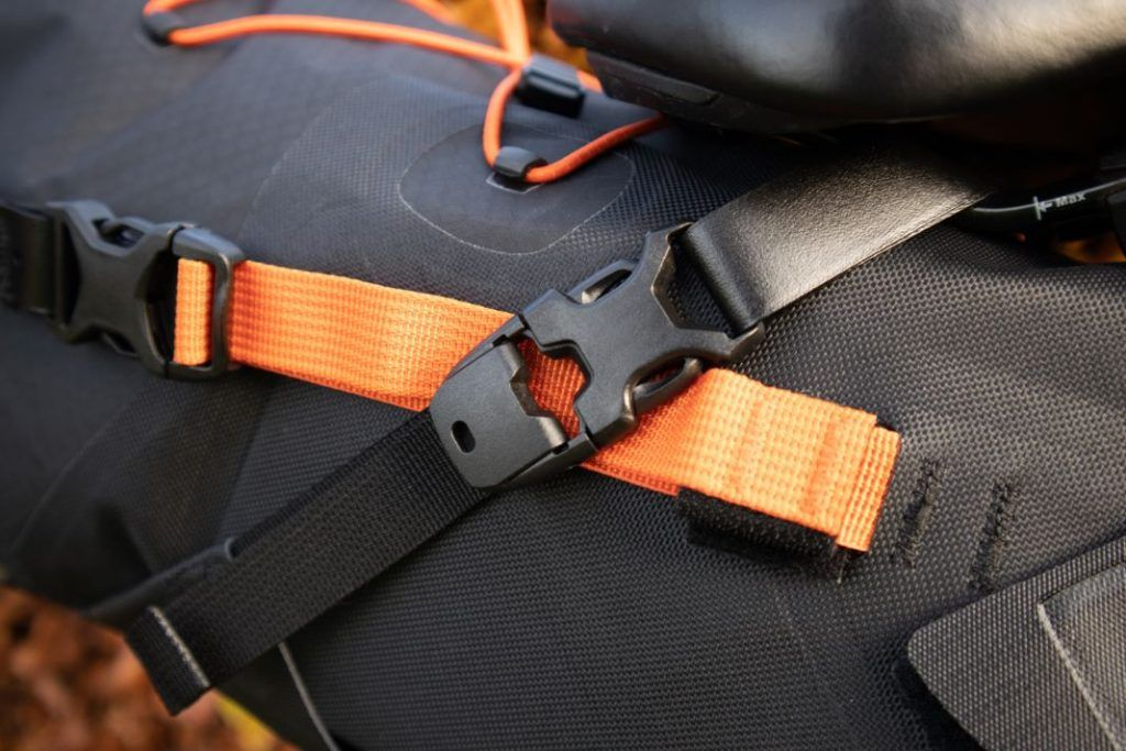 Ortlieb Seat Pack 11L attachment with sturdy plastic clips