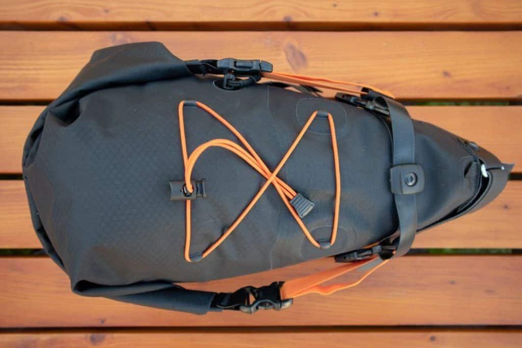 Ortlieb Seat Pack 11L Bikepacking saddle bag packed