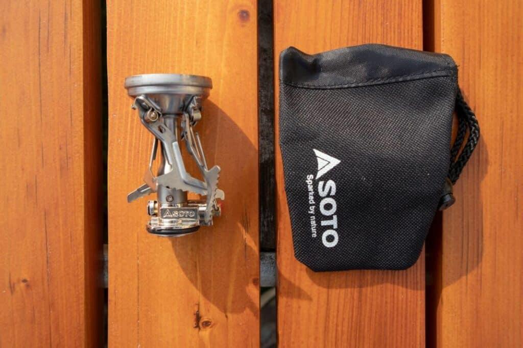 Soto Amicus Lieferumfang - kleiner Gaskocher mit Tasche