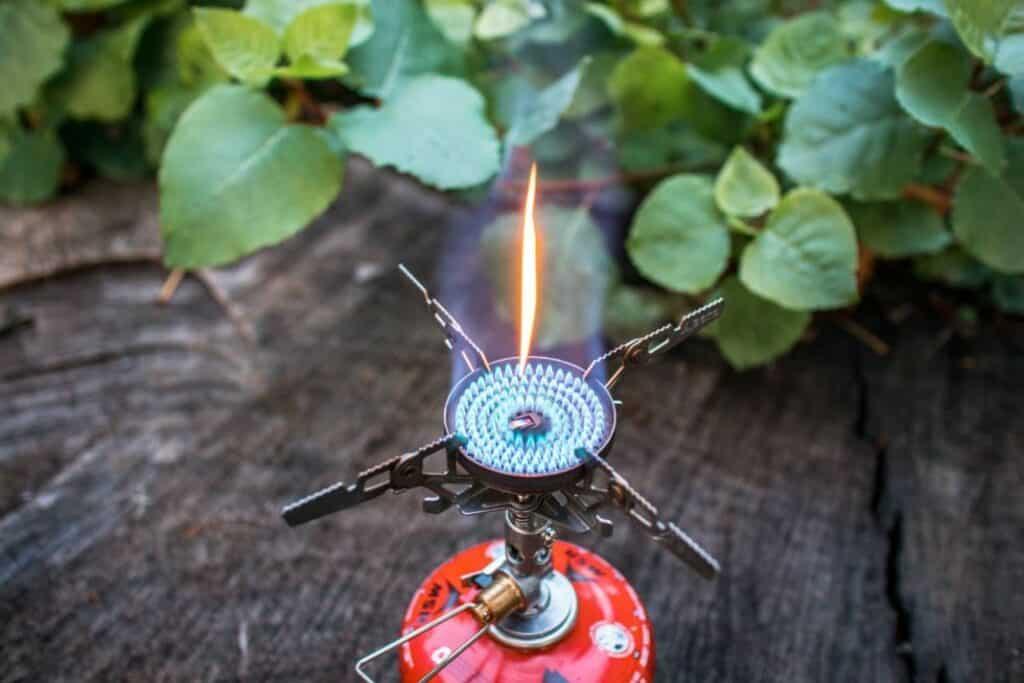 Soto Windmaster Test - Soto Kocher und blaue Flamme