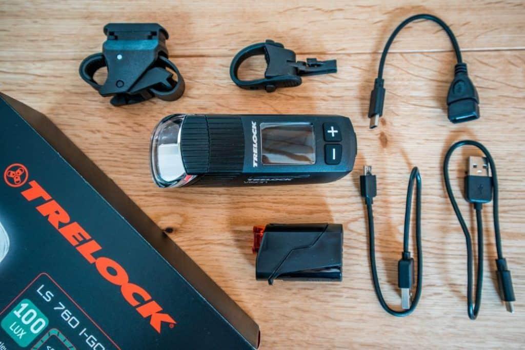 Trelock LS 760 I-GO Vision LS 720 Lieferumfang Fahrradbeleuchtung Set