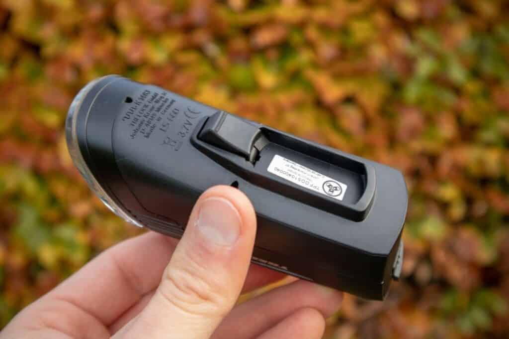 Trelock LS 760 I-GO Vision Test Handhabung Knopf Taster