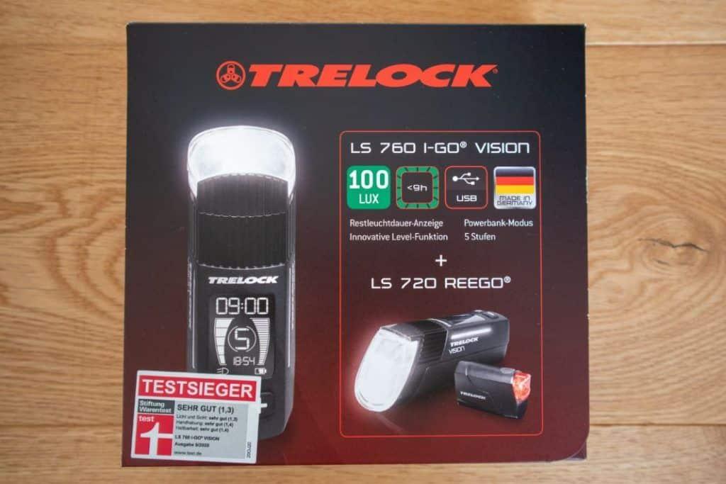 Trelock LS 760 I-GO Vision Test Trelock LS 720 Reego Test Verpackung Lieferumfang