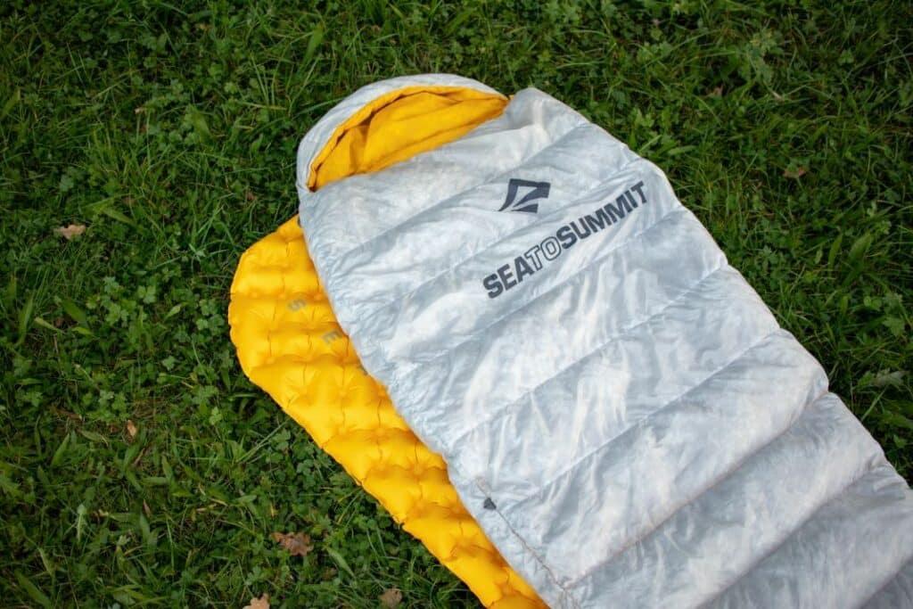 Sea to Summit Spark 2 Outdoor Ultralight Sleeping Bag on Ultralight Mat Sea to Summit Ultralight Mat