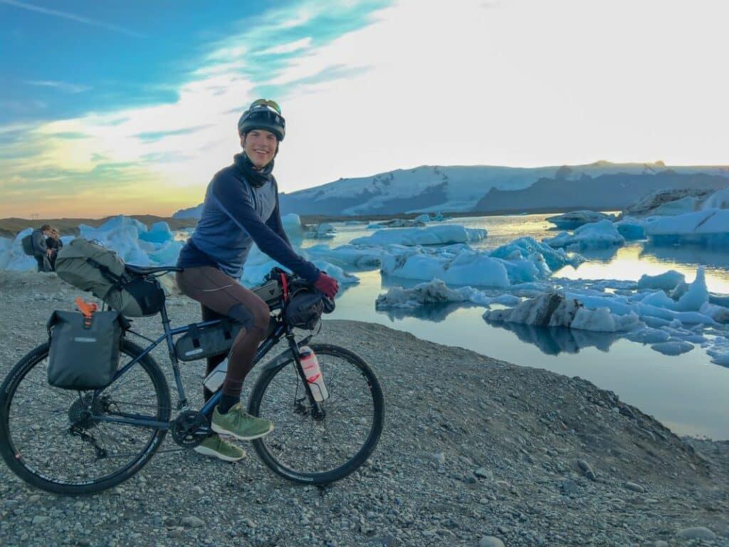 Ultralight sleeping bag on Iceland bike trip