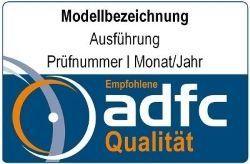 Fahrradschloss Test ADFC Logo Sicherheitsstufe