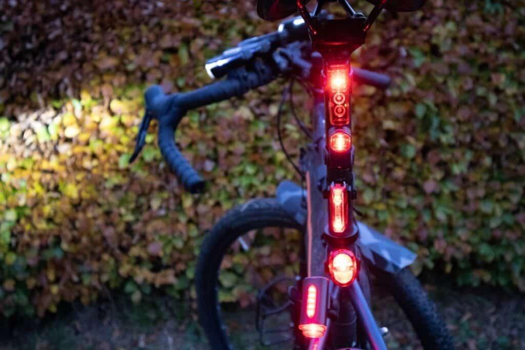 Fahrradlampen Rücklicht Ansicht von hinten
