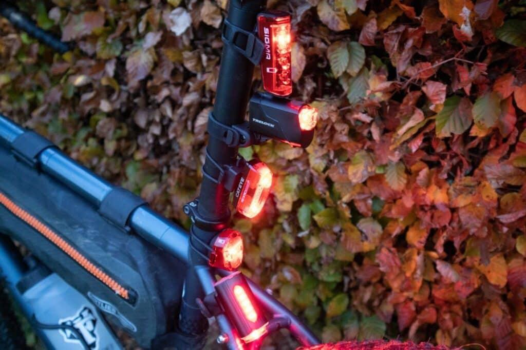 Fahrradlampen Rücklicht Seitenansicht