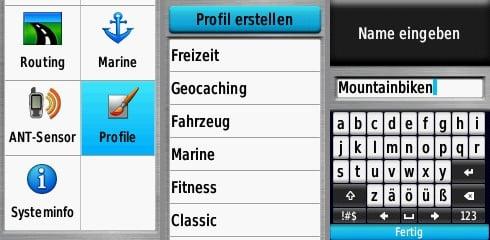 Garmin GPSMAP 65s test profile
