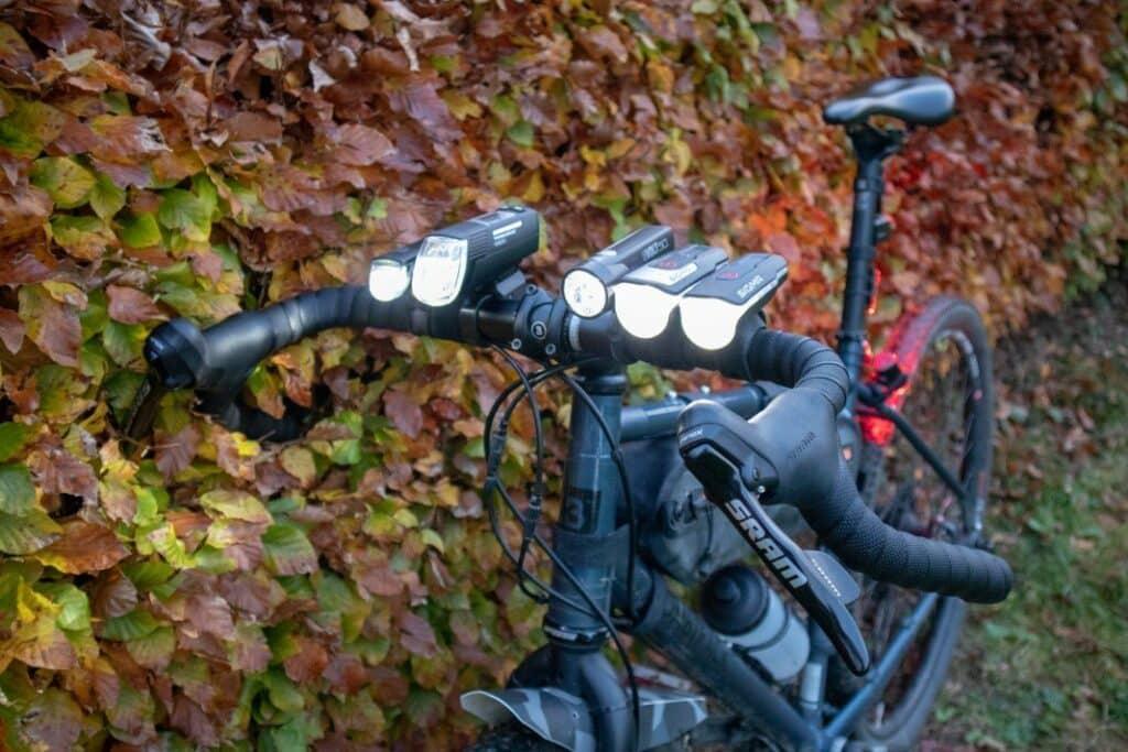 LED Fahrradlampen am Fahrradlenker