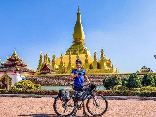 bikepacking tipps decathlon merinoshirt laos vientiane