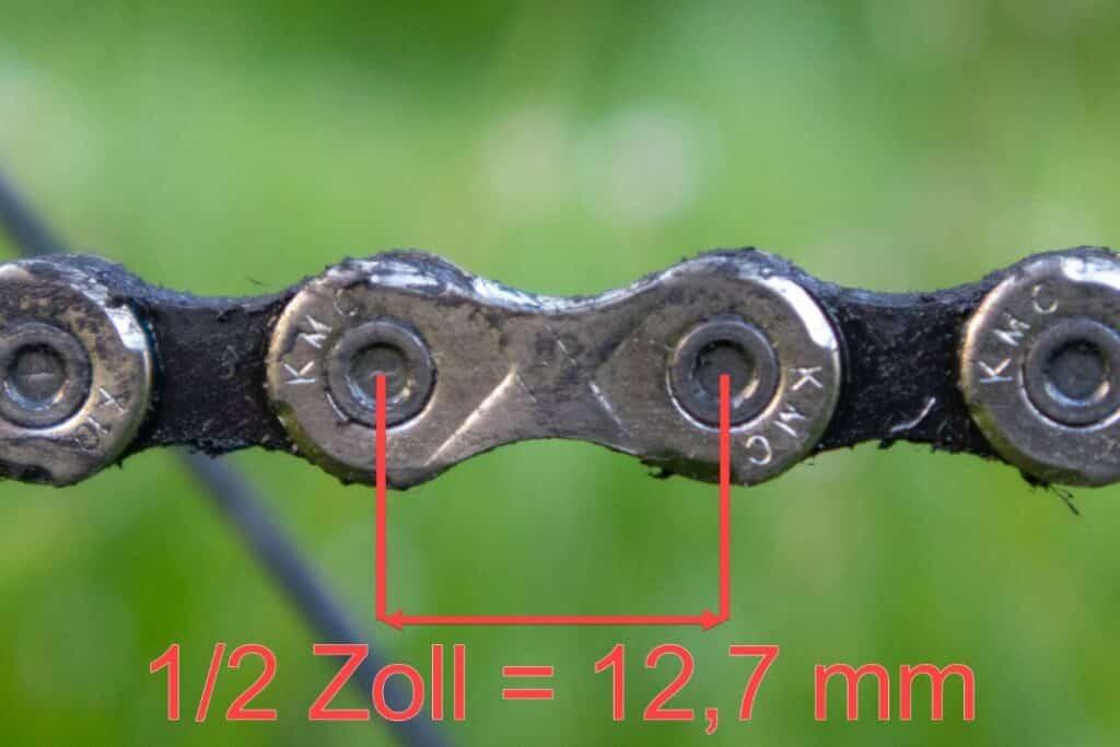 Fahrradkette Pin Länge