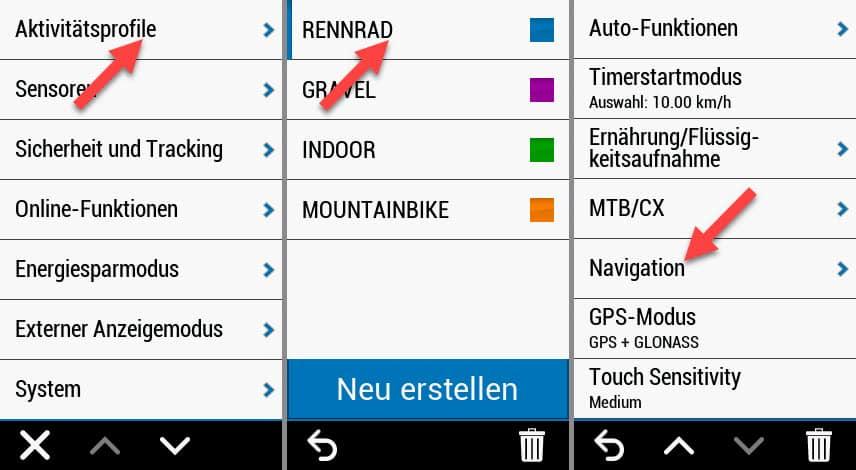 garmin edge 1030 plus erfahrungen navigation profile