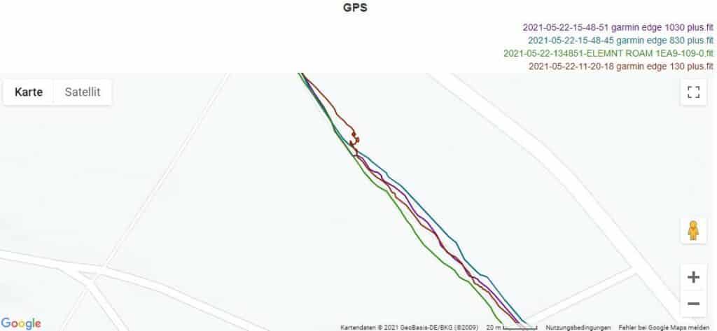 garmin edge 1030 plus gps genauigkeit 12