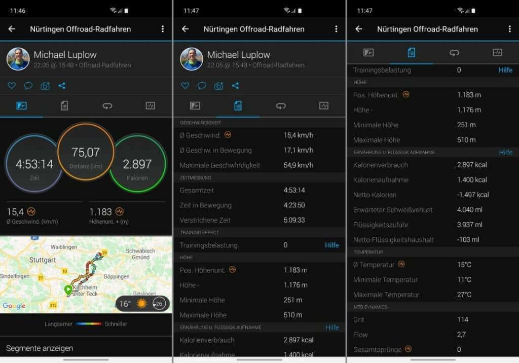 garmin edge 1030 plus test garmin connect mobile app 1