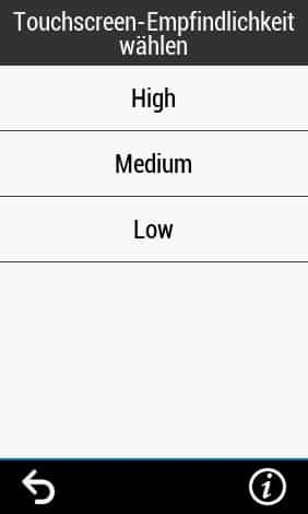 garmin edge 1030 plus touchscreen sensitivity