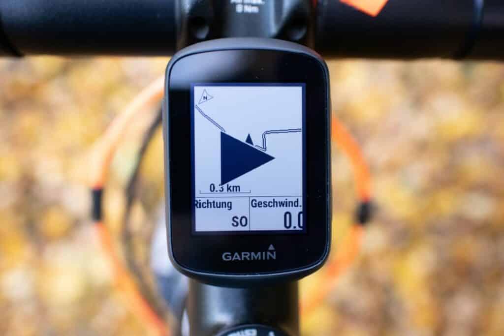 garmin edge 130 plus navigation gestartet