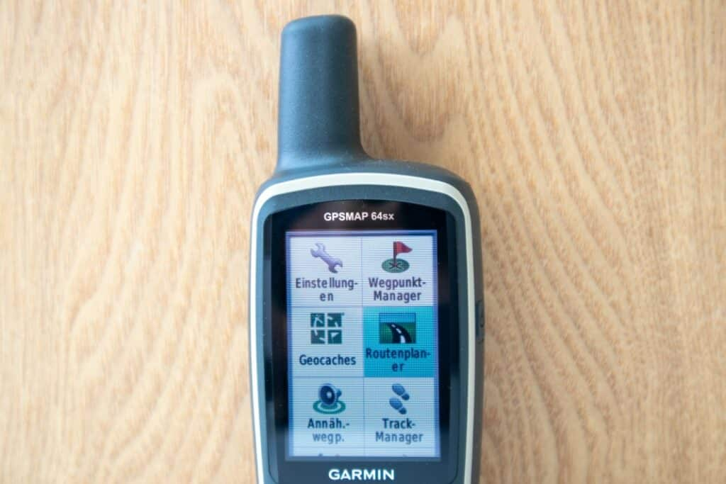garmin gpsmap 64sx test menü ersteinrichtung