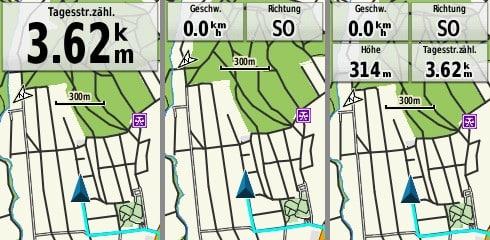 garmin gpsmap 65s datenfelder